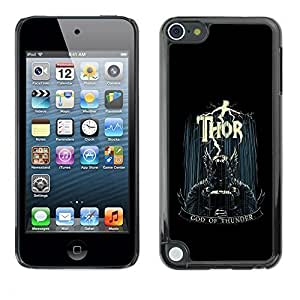Beautifulcase GagaDesign cell phone Accessories: case cover for maaCGx8kQR4 Apple iPod Touch 5 - God Of Thunder