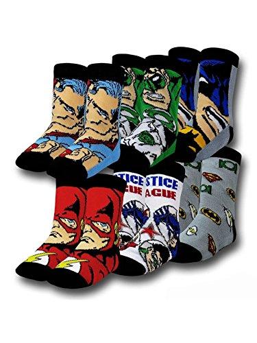 DC Comics Justice League 6 Pack Toddler Crew Socks (2T/3T)