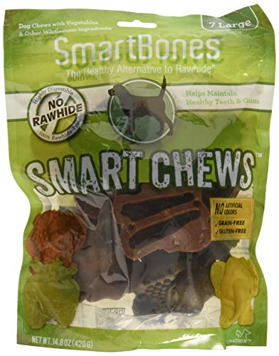 (3 Pack) Smartchews Safari Chews For Dogs, Large, 7 Pieces Each
