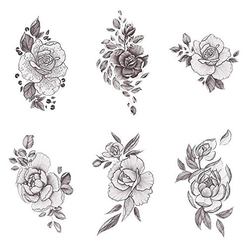 Tattify floral temporary tattoos a rose by any other for The girl with the lower back tattoo review