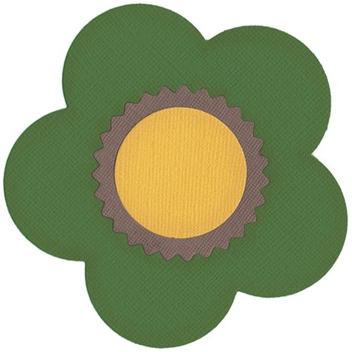 QUICKUTZ We R Memory Keepers REV-0037 4 by 4 Dies, Bottlecap Daisy