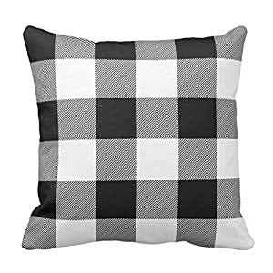 Wonderful Rustic Black And White Buffalo Check Plaid Outdoor Pillow Case 2020