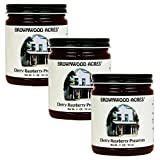 Brownwood Acres Cherry Raspberry Preserves - 3 PACK - Shipping Included