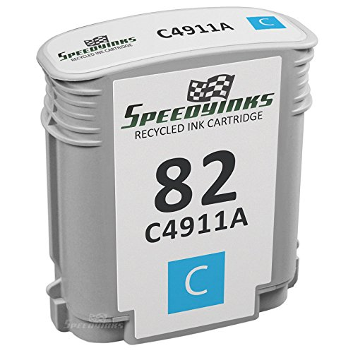 Speedy Inks - Remanufactured Replacement for HP 82 HP C4911A Cyan Ink Cartridge for use in HP DesignJet 500, 500PS, 800, 800PS, 510, 815MFP, 820MFP, Copier cc800ps
