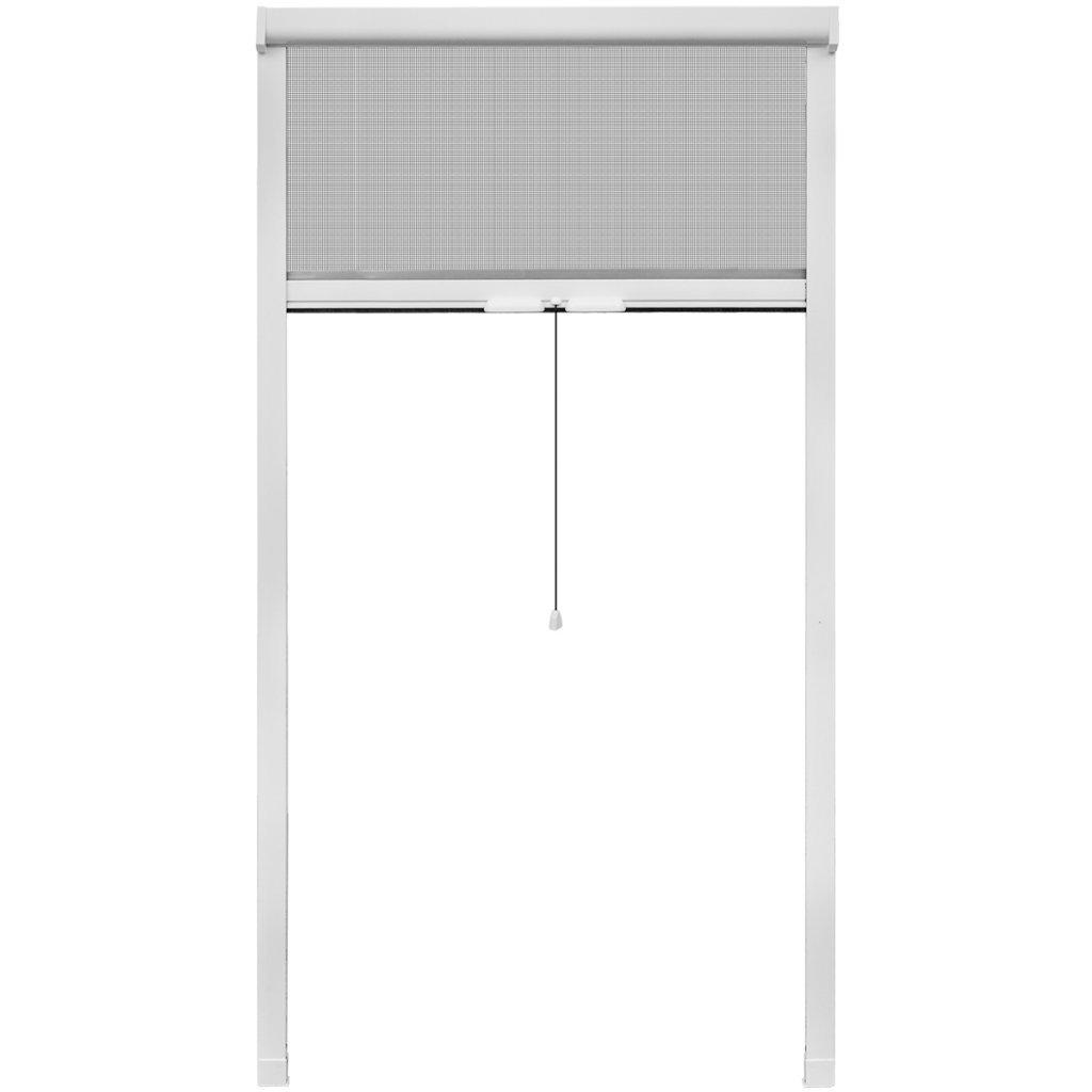 Festnight moustiquaire fenetre Enroulable moustiquaire pour fenê tre Blanc 100 x 170 cm