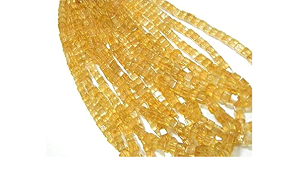 4583 Natural Citrine Smooth Heishi shape beads Gemstone 3 mm to 4 mm Approx size Heishi 16 inch strand approx M No.