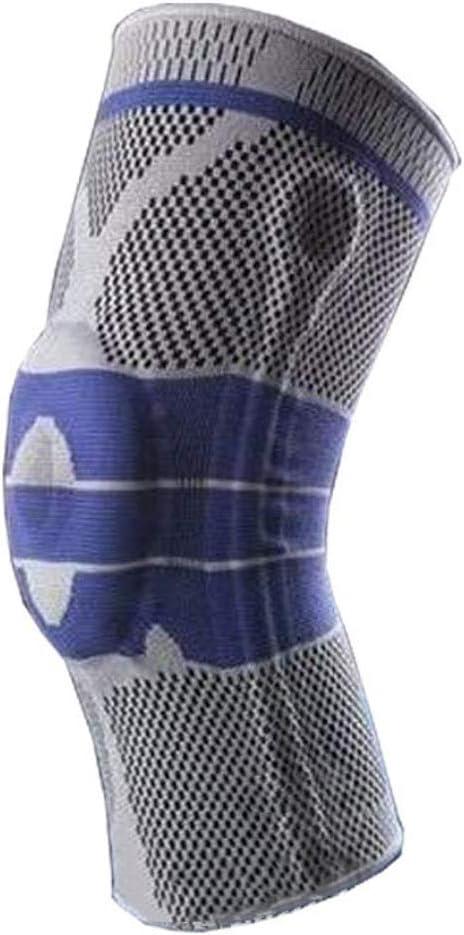 -S-blu HOCOL Ginocchiera con cuscinetto in silicone e barre laterali in metallo elastico 1 PCS lacrima del menisco sollievo dal. artrite Manicotto a compressione per corsa sollevamento pesi