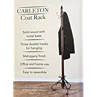 Carlton Coat Rack Solid Wood with Metal Base