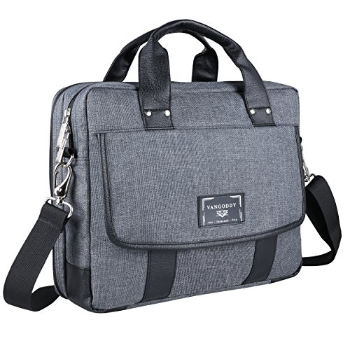 Vangoddy Chrono Grey Messenger Tote Bag for Dragon Touch, LG, Huawei, Onda, Teclast, Jumper 10.1 inch 10.6 inch 11.6 inch 12.2 inch Tablet Laptop ()