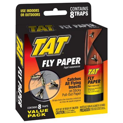 Fly Sticky (TAT 100515162 8PK Fly Ribbon, 1 Pack, White)