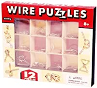 CHS 12 WIRE PUZZLES Brain Teaser mind game toy steel metal IQ test magic trick BOX For Ages 8+