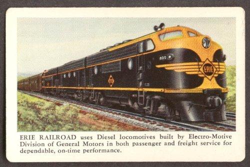 Erie Railroad GM EMD Diesel locomotive pocket calendar 1951