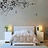Wall Stickers,GOODCULLER Hee Grand Removable Vinyl Wall Sticker Mural Decal Art - Flowers and Vine Background Decorated Decal Home Decor 50 x70CM