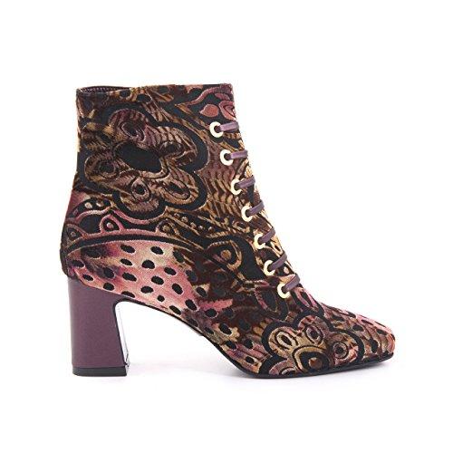 Rouge Vrouwen Designer Laarzen Cowboy Stijl Enkellaarsje Jurk Schoen Textiel Verkoop Reissverschluss