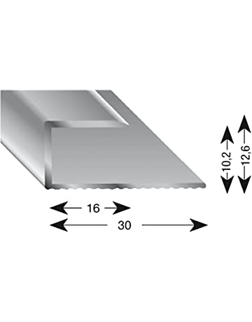 kügele gleitabsc hluss Perfil U aluminio plata anodizado 10/1000 mm, 1 pieza,