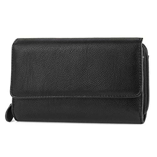 Mundi Big Fat Trifold Wallet, Black, One Size