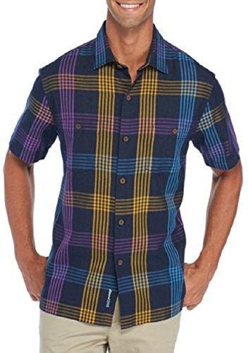 Two Pocket Camp Shirt (Tommy Bahama Men's MO' Rockin' Plaid Shirt Ocean Deep XX-Large)