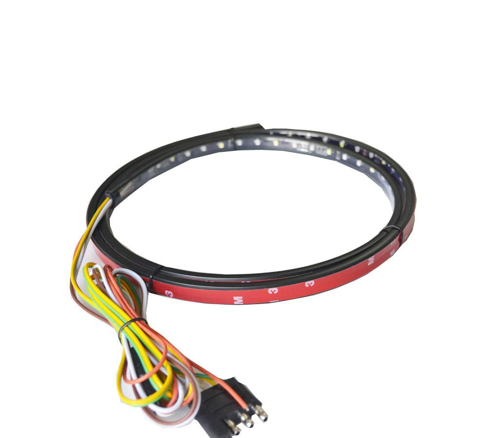 NBWDY60inch 3528 SMD Flexible 5-Function Red White and Amber LED Light Strip Tailgate Tail Turn Signal Light for Truck SUV Pickup JINXIU KS-48-TL3528