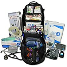 Lightning X Premium Stocked Tactical EMS/EMT Trauma First Aid Responder Medical Kit Backpack