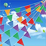 Toys : 200 Pcs Multicolor Pennant Banner Flags,IsPerfect 250 Ft for Party Decorations ,Birthdays,Festivals,Christmas decorations