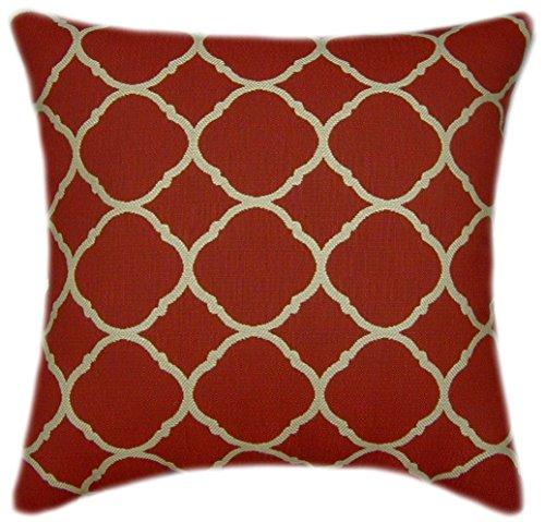 TPO Design Sunbrella Accord II Crimson Indoor Outdoor Textured Pillow 18×18