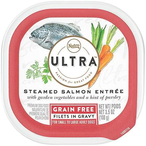 Nutro Ultra Steamed Salmon Entree Grain Free (Pack of 6 Individual 3.5 oz Trays)