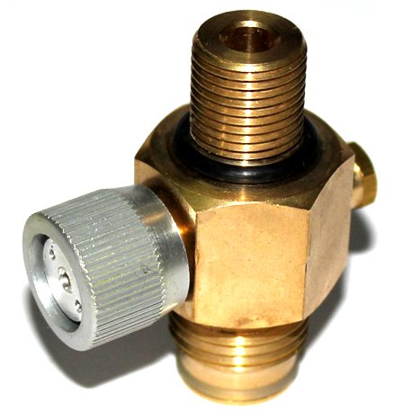 Antexn Cylinder air Tank 1/4 Turn CO2 Tank On/Off Valve Copper made paintball airsoft 5/8-18UNF or M181.5 with protector (M18 Paintball)
