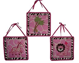 SISI Baby Girl Bedding - Pink Safari 13 PCS Crib Nursery Bedding Set
