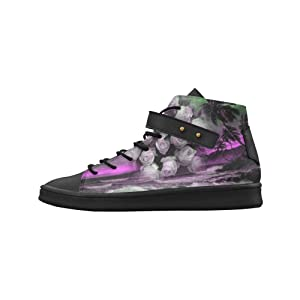 Shoes No.1 Women's Sneakers Lyra Round Toe High-top Shoes Sea And Roses In Purple For Outdoor