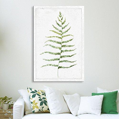 Hand Drawn Green Slim Tree Leaf Series 6 Artwork