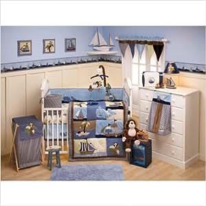Bundle-33 Ahoy Mate! Crib Bedding Collection (4 Pieces)