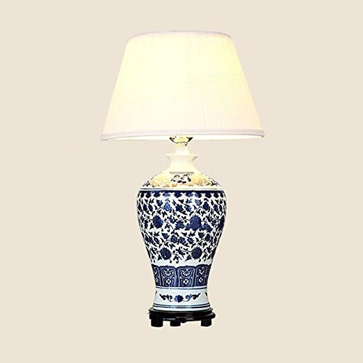 Gaoduzi Ceramic Table Lamp Blue And White Decoration Simple Bedroom