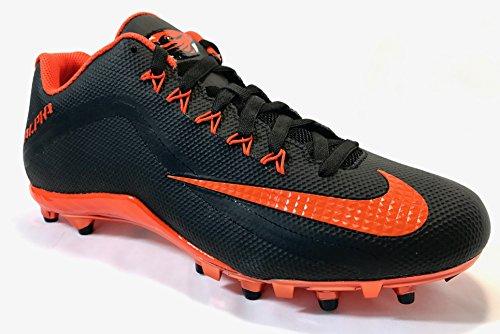 Nike Alpha Pro 2 TD Football Cleats (12.5, Black/Orange Flash) (Oregon Cleats Football)