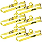 Vulcan Logistic Strap for E-Track, Ratchet Style 12' Yellow (6 Pack)