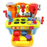 PowerTRC® Little Engineer Multifunctional Musical Learning Tool Workbench for Kids