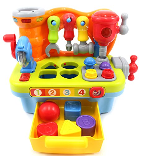(PowerTRC Little Engineer Multifunctional Musical Learning Tool Workbench for Kids)
