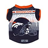 Littlearth NFL Denver Broncos Pet Performace T-Shirt, Small