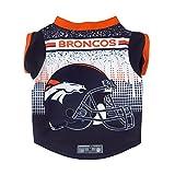 Littlearth NFL Denver Broncos Pet Performace T-Shirt, Medium