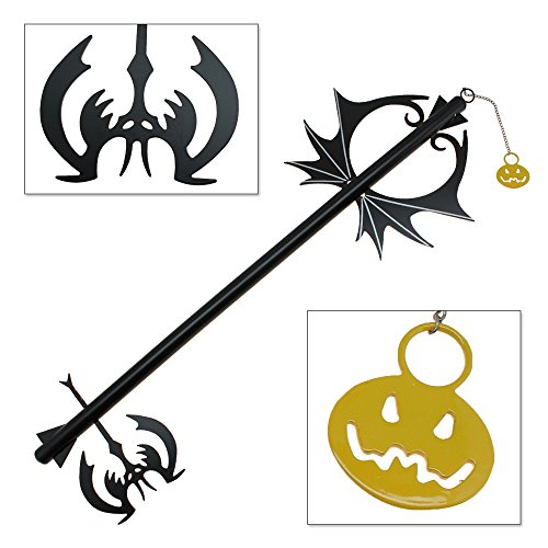 Kingdom Hearts Keyblades (Pumpkin Hearts Oblivion Kingdom Keyblade Metal Replica)