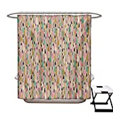 Best Creative Bath Shower Caddies - BlountDecor Kids Shower Curtain Collection Abstract Hand Drawn Review