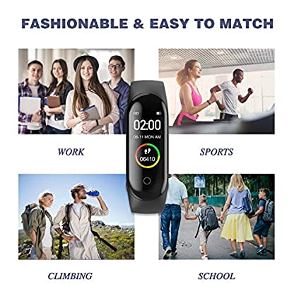 Activity Tracker, Fitness Tracker with Heart Rate Monitor,5ATM Water Resistance HD Touch Screen Smart Watch,Sleep… 7