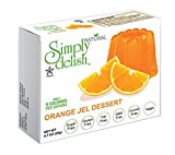 Simply delish Natural Orange Jel Dessert, Sugar free, 0.7 oz., 24-6 packs – Fat Free, Gluten Free, Lactose Free, Non GMO, Kosher, Halal, Dairy Free, Natural