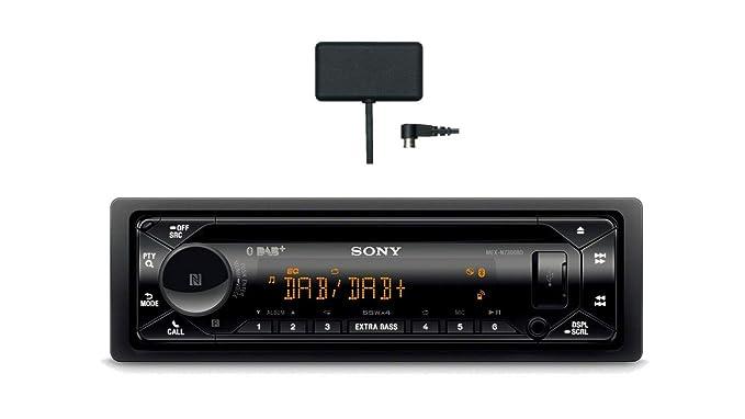 Sony MEX-N7300KIT DAB+ Autoradio mit CD, Dual Bluetooth, USB und AUX Anschluss | Bluetooth Freisprechen | 4 X55 Watt | 3X Pre
