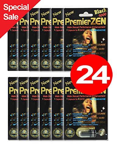 (PremierZen Black 5000 24-Pills Male Enhancement Pill - Fast US Shipping)