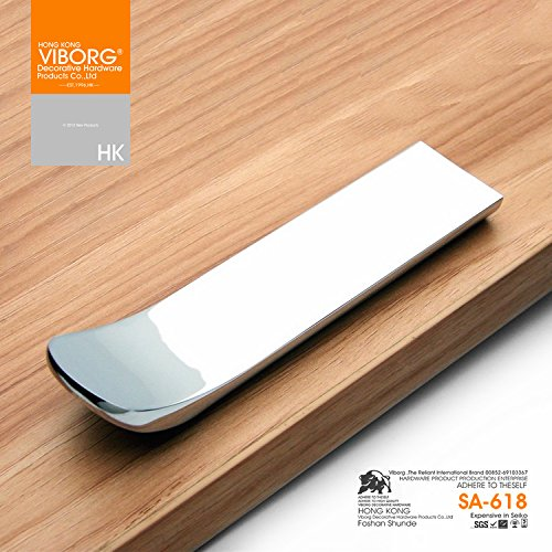 (5-inch) No-fingerprint Brushed Kitchen Cabinet Door Knobs, Modern-style Dresser Cupboard Pulls,Extra-thick Deluxe Drawer Knobs and Handles,Zinc-alloy Casting Heavy Duty, Hole-pitch=32mm (5 Pcs) by VIBORG-HK (Image #6)