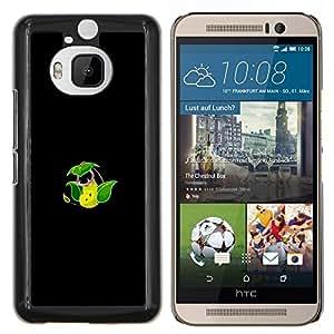 Meter Monstruo Verde Eater Flor- Metal de aluminio y de plástico duro Caja del teléfono - Negro - HTC One M9+ / M9 Plus (Not M9)