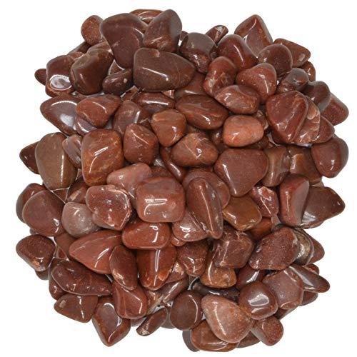 (Hypnotic Gems Materials: 1 lb Red Aventurine Tumbled Stones - Grade 1 - XSmall - 0.5