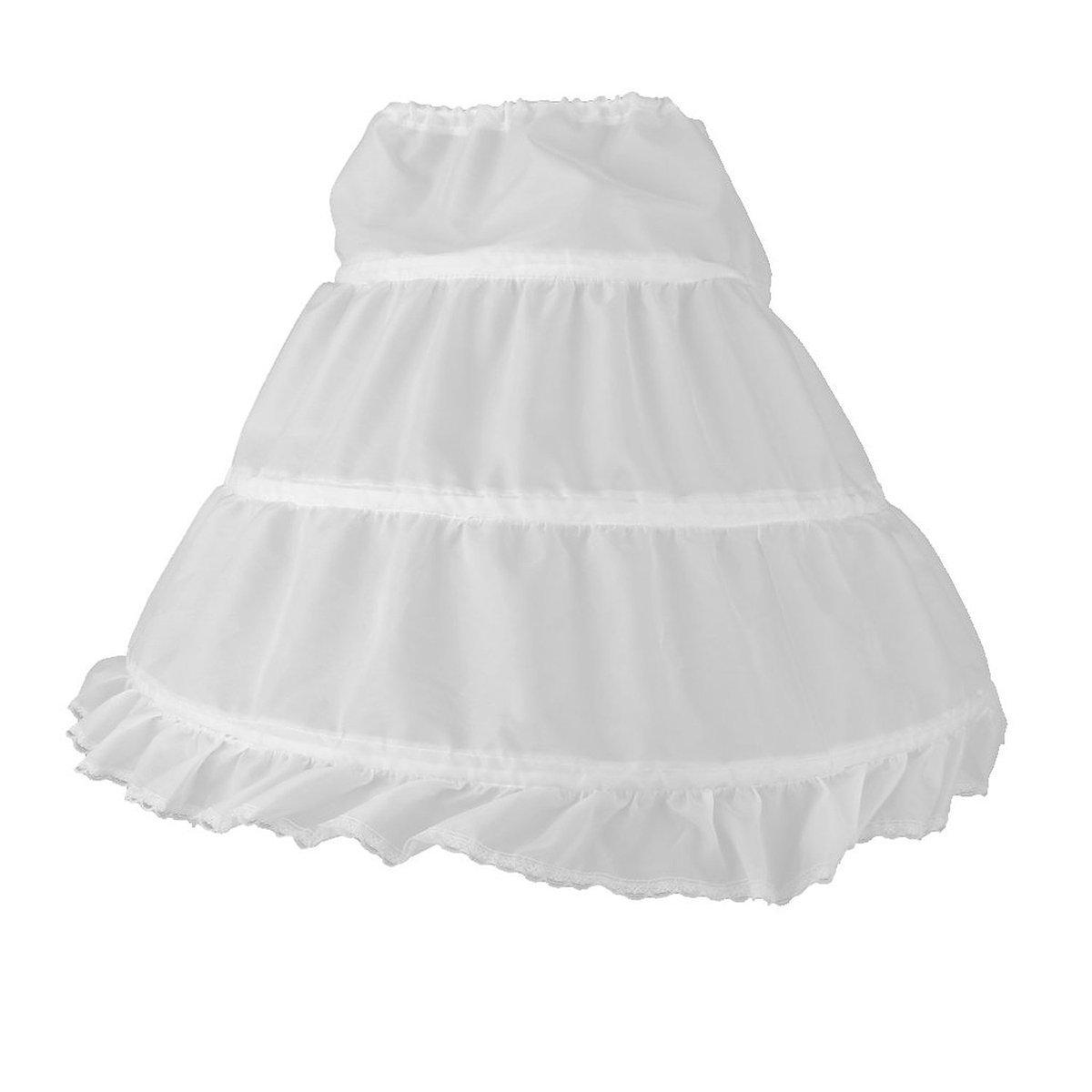 BESTOMZ Dressever Girls' Petticoat Half Slip Flower Girl Crinoline Skirt
