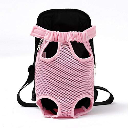 Pets Carrier Dog Front Chest Backpack Five Holes Backpack Dog Outdoor Carrier Tote Bag Sling Holder Mesh Cat Puppy,Yi 0179 B,S