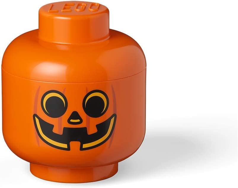 LEGO Storage Head Small-Pumpkin, Orange
